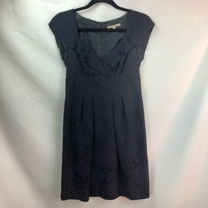 Navy black jacquard Nanette Leopore dress sz 4